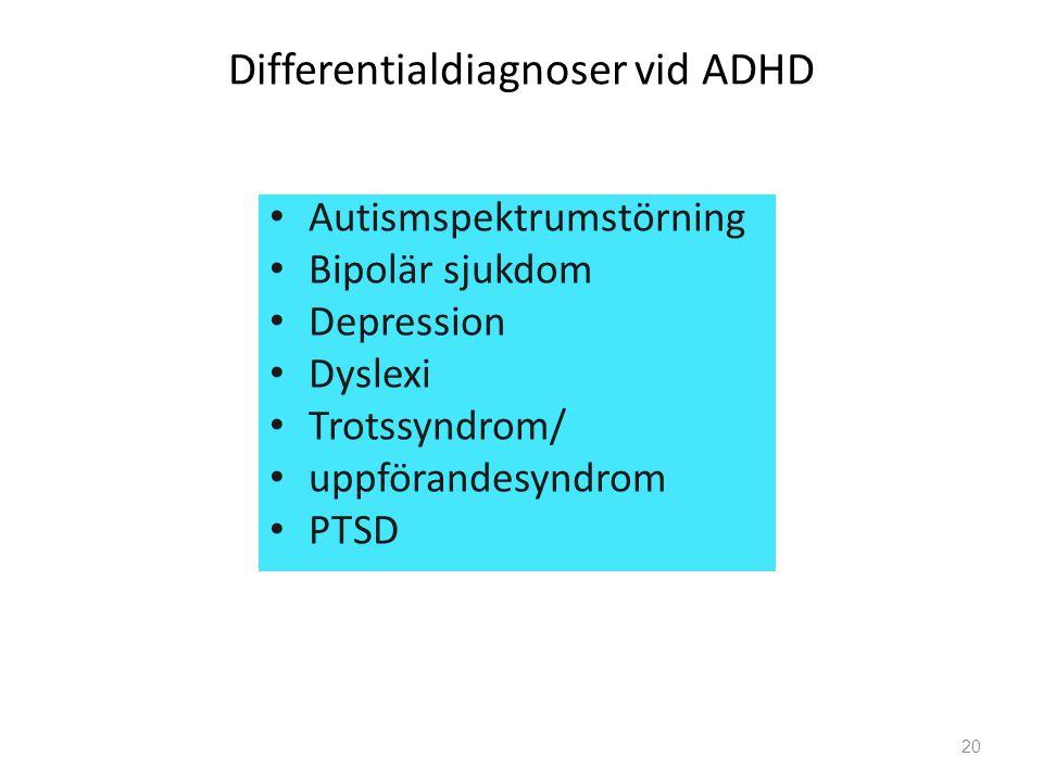 Differentialdiagnoser vid ADHD