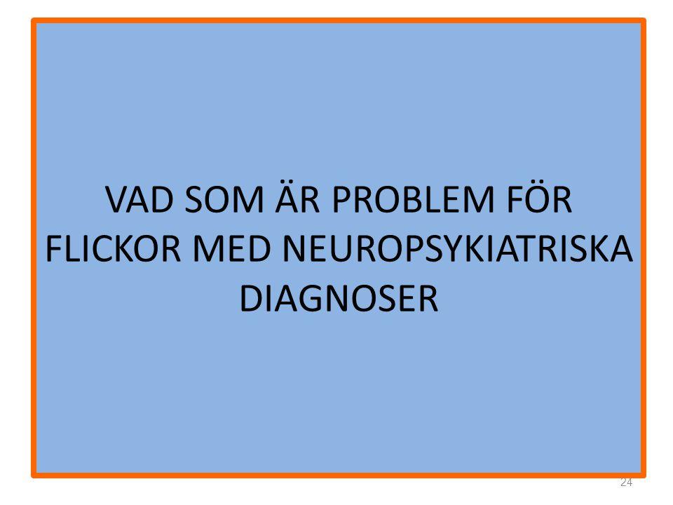 VAD SOM ÄR PROBLEM FÖR FLICKOR MED NEUROPSYKIATRISKA DIAGNOSER