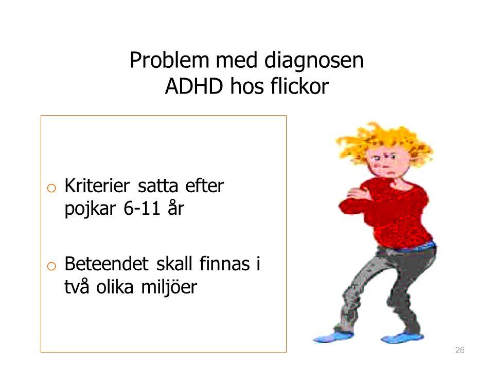 Problem med diagnosen ADHD hos flickor