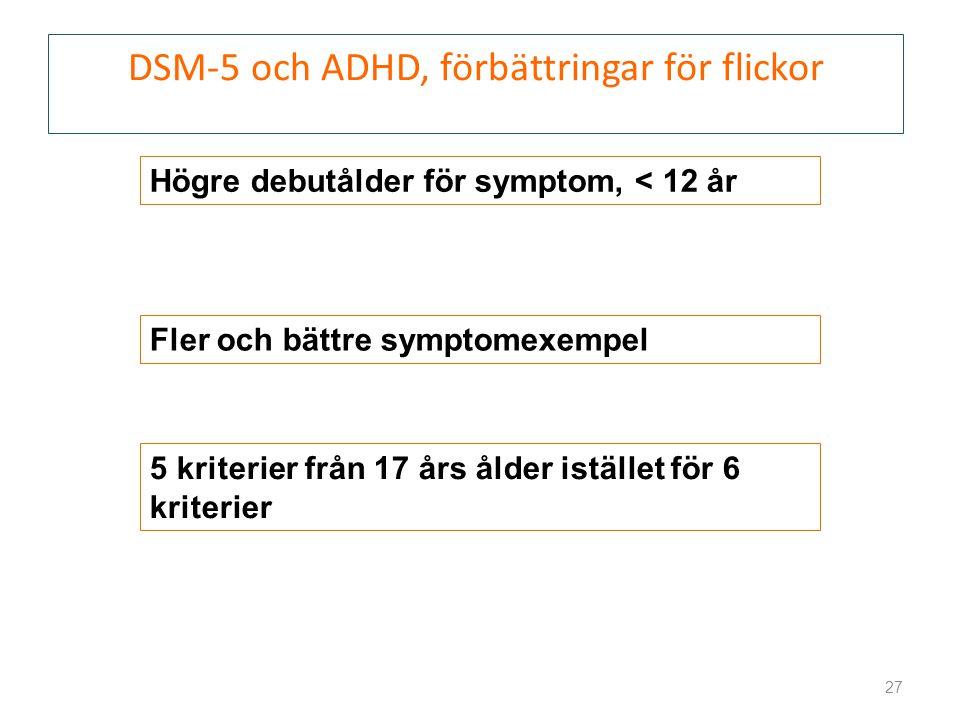 DSM-5 och ADHD, förbättringar för flickor
