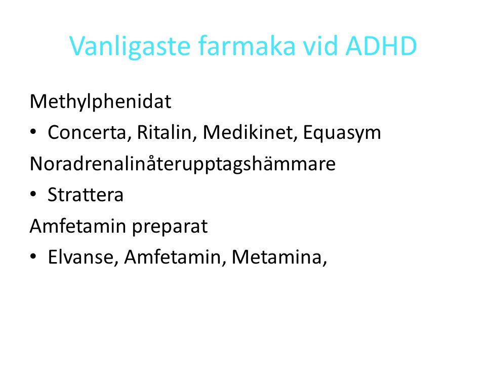 Vanligaste farmaka vid ADHD