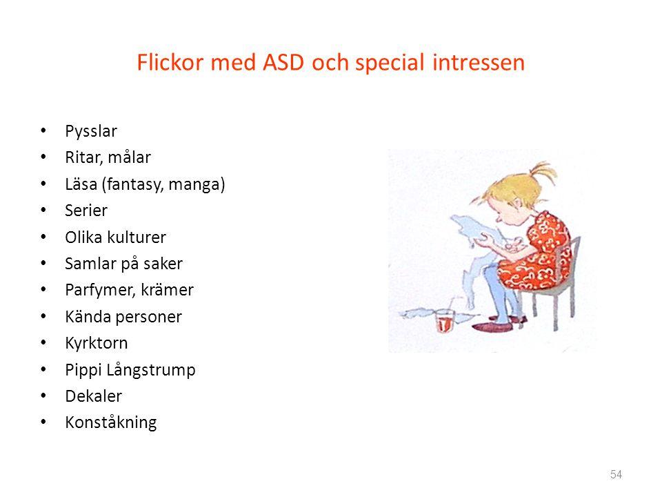 Flickor med ASD och special intressen