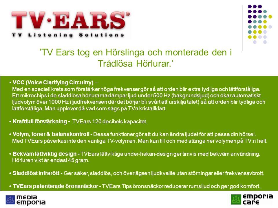 'TV Ears tog en Hörslinga och monterade den i Trådlösa Hörlurar.'