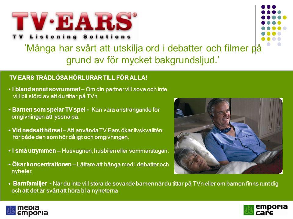 TV EARS TRÅDLÖSA HÖRLURAR TILL FÖR ALLA!