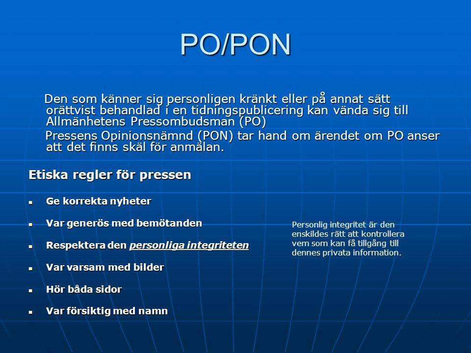 PO/PON