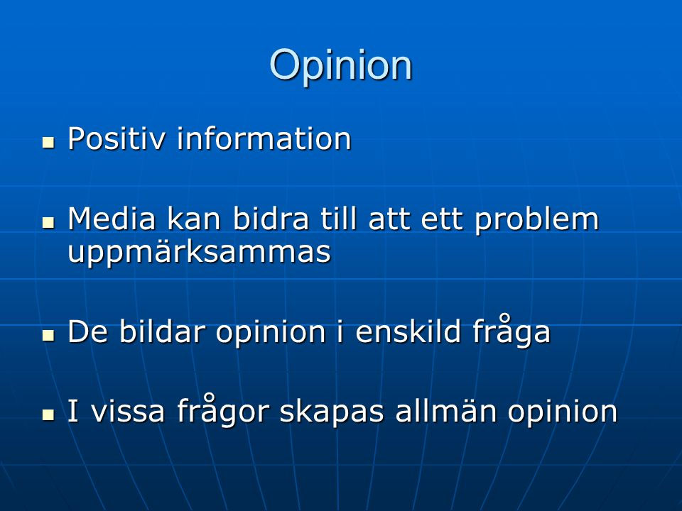 Opinion Positiv information
