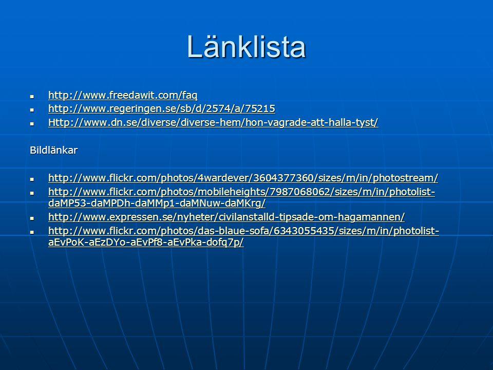 Länklista http://www.freedawit.com/faq