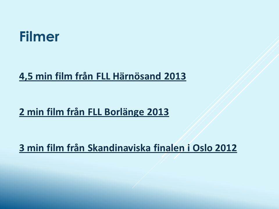 Filmer 4,5 min film från FLL Härnösand 2013