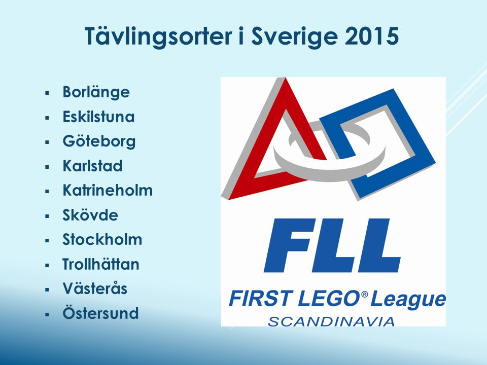 Tävlingsorter i Sverige 2015