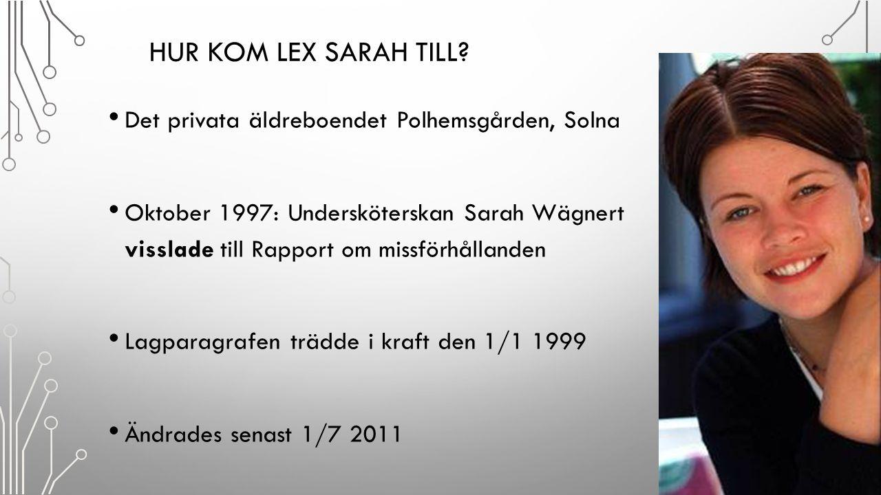 Hur kom lex Sarah till Det privata äldreboendet Polhemsgården, Solna