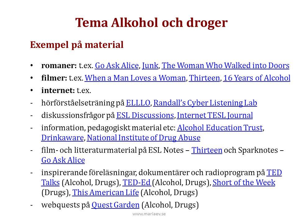 Tema Alkohol och droger