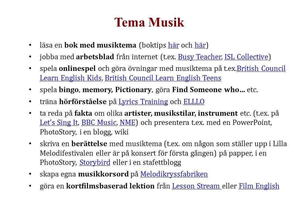 Tema Musik läsa en bok med musiktema (boktips här och här)