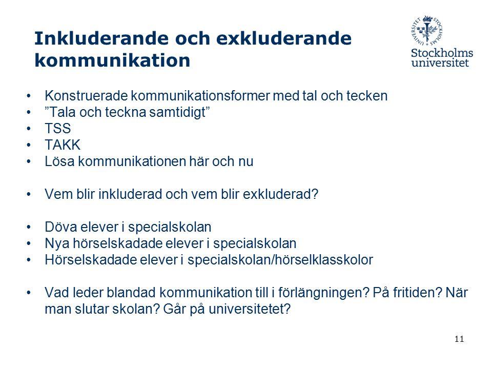Inkluderande och exkluderande kommunikation