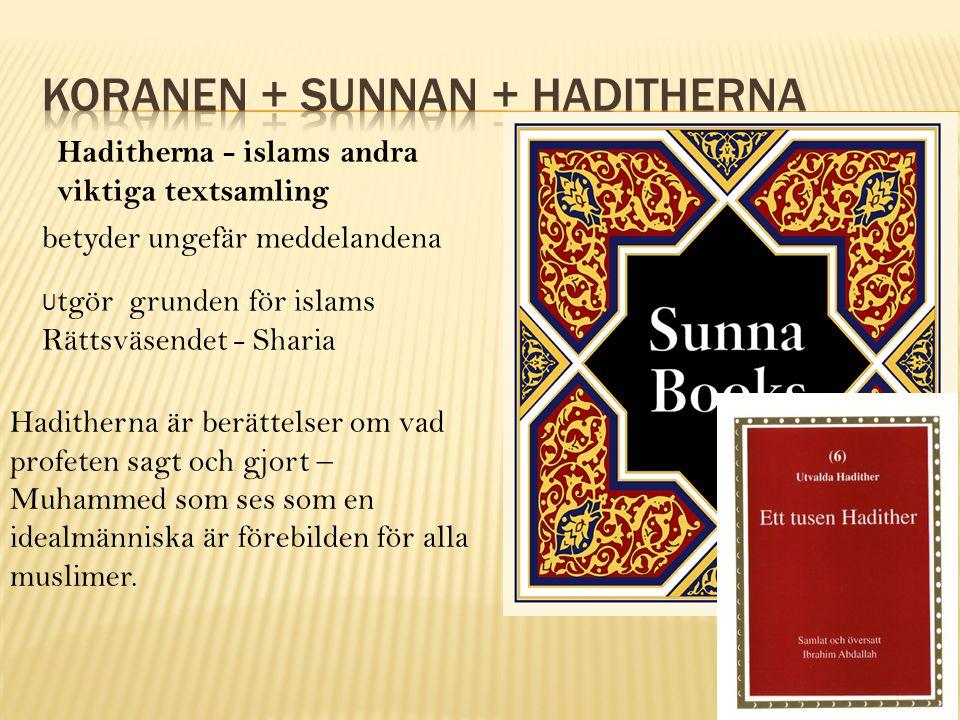 Koranen + sunnan + haditherna