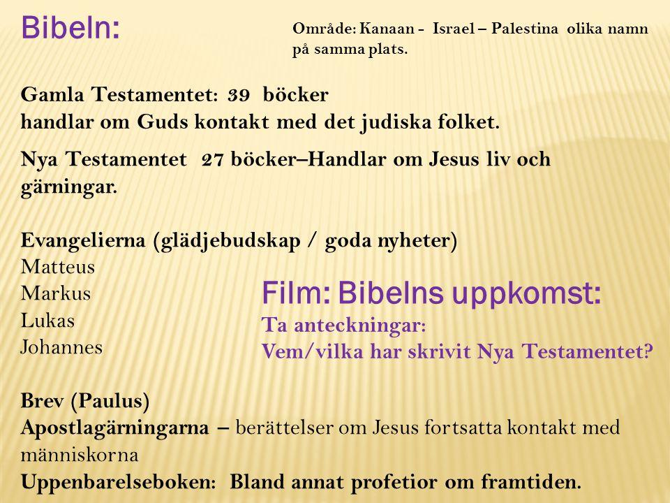 Film: Bibelns uppkomst: