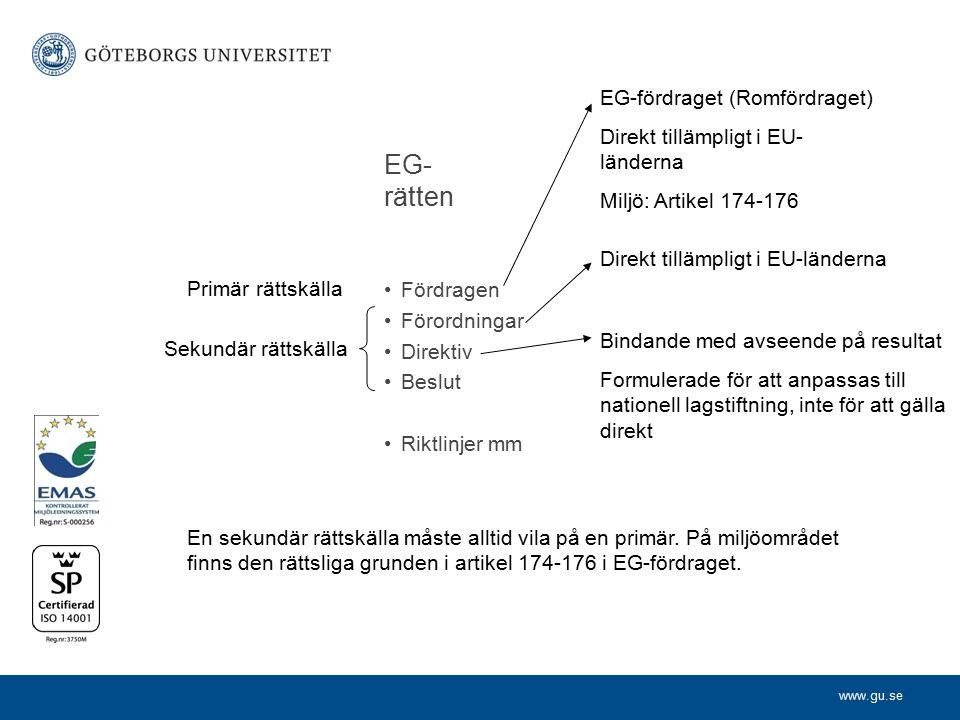 EG-rätten EG-fördraget (Romfördraget)