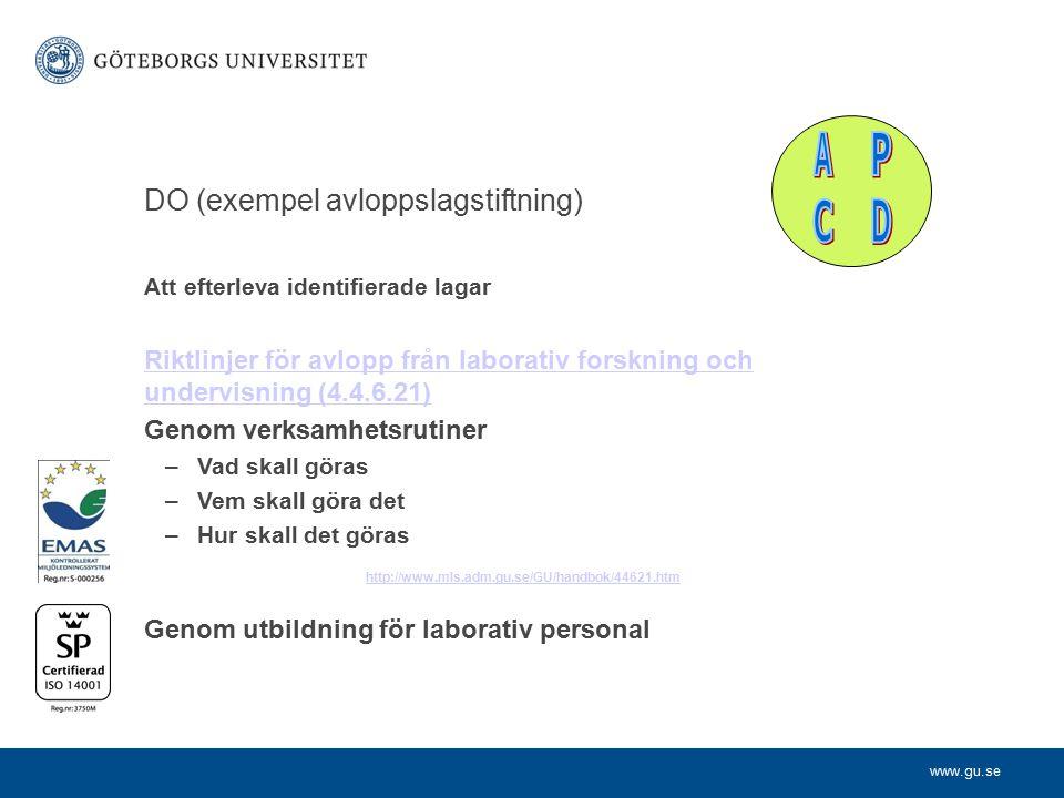 P D C A DO (exempel avloppslagstiftning)
