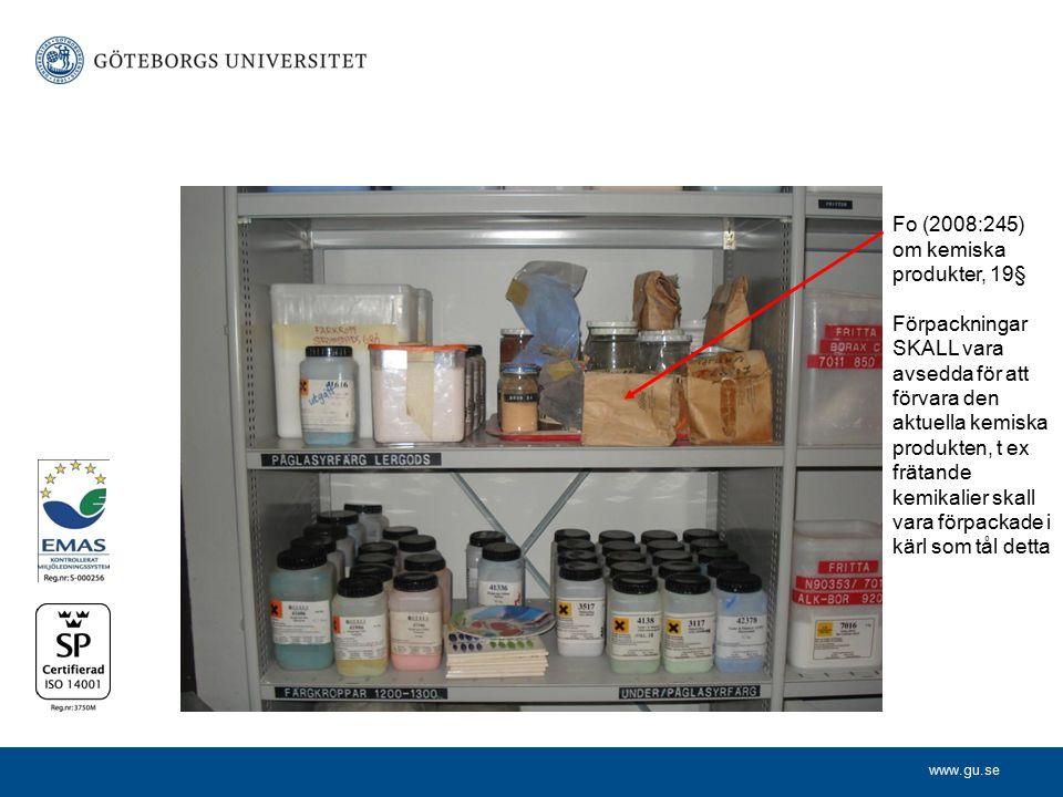 Fo (2008:245) om kemiska produkter, 19§