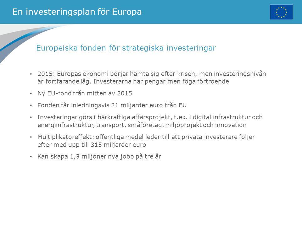 En investeringsplan för Europa