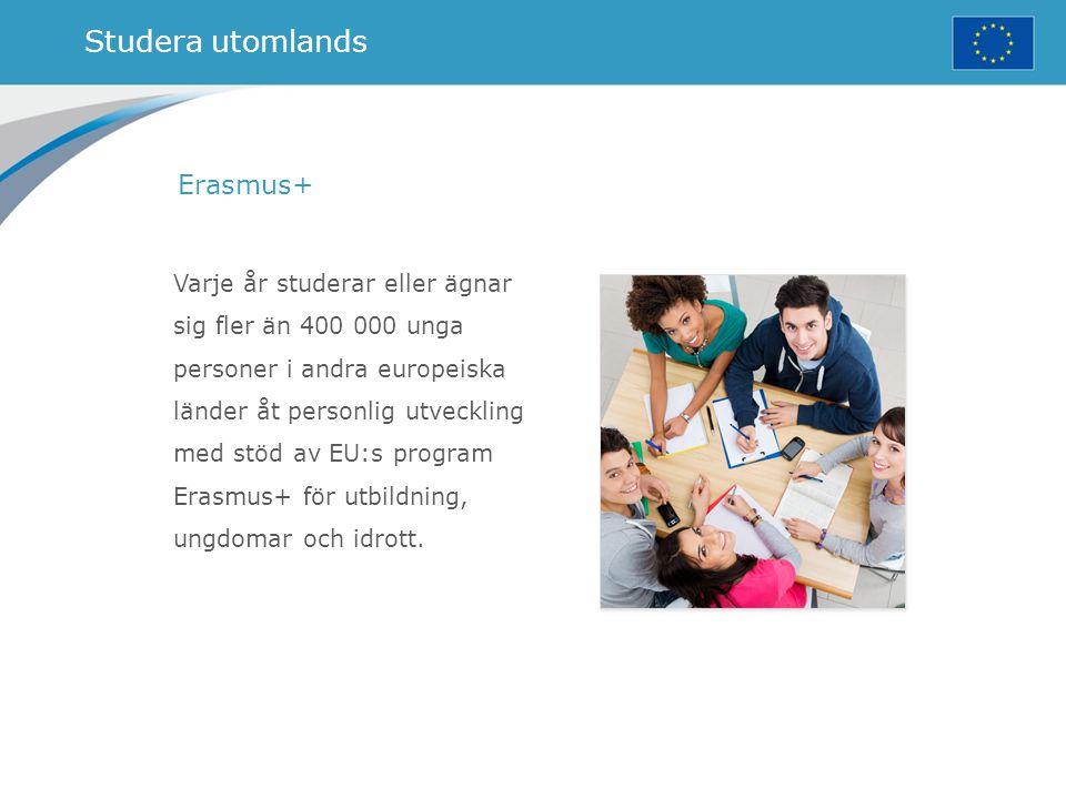 Studera utomlands Erasmus+