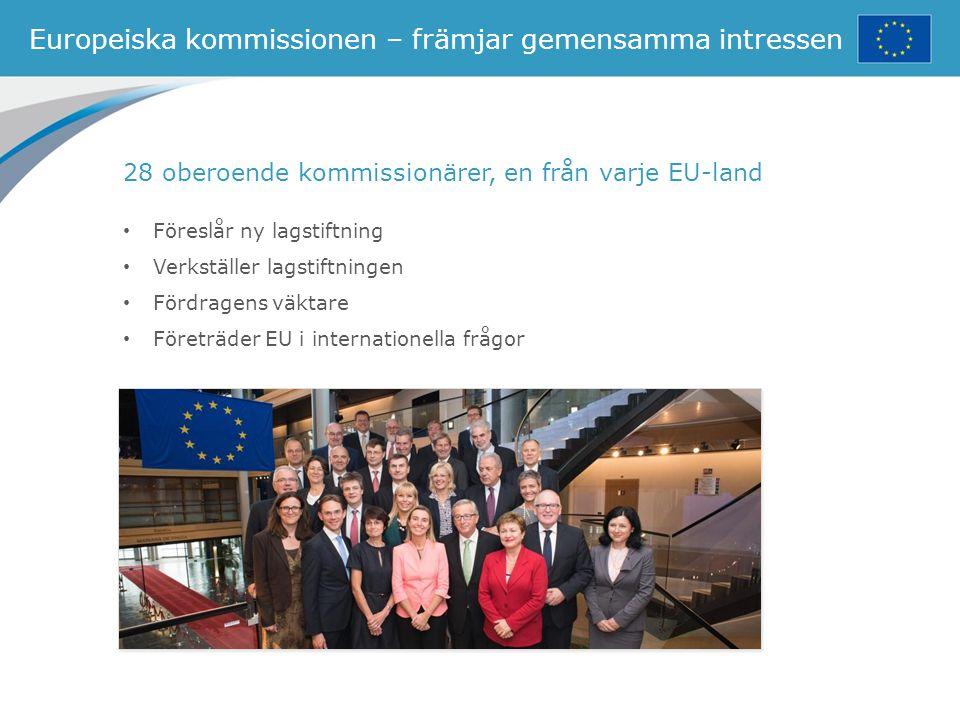 Europeiska kommissionen – främjar gemensamma intressen