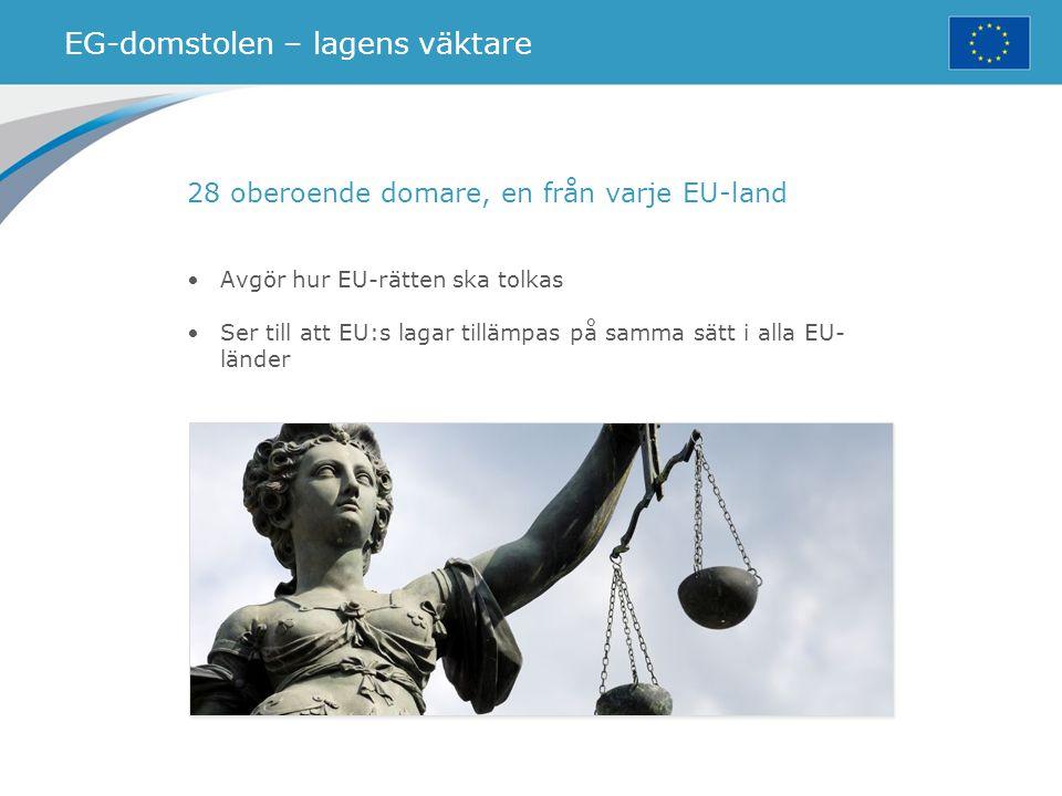 EG-domstolen – lagens väktare