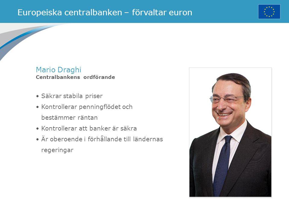 Europeiska centralbanken – förvaltar euron