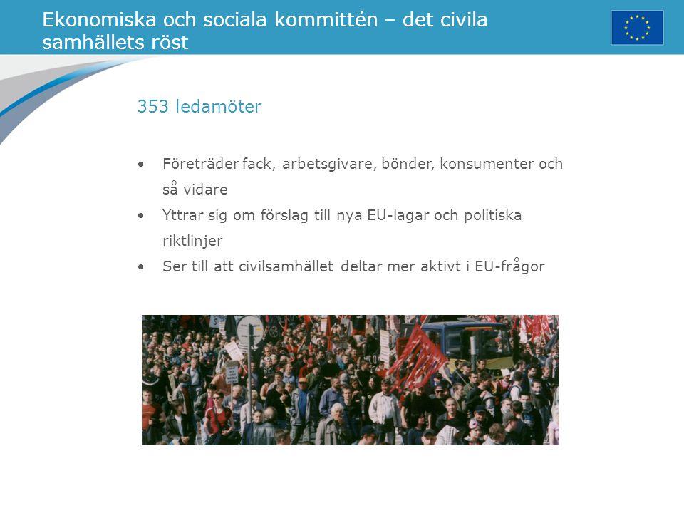 Ekonomiska och sociala kommittén – det civila samhällets röst