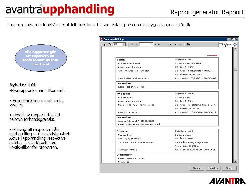 Rapportgenerator-Rapport