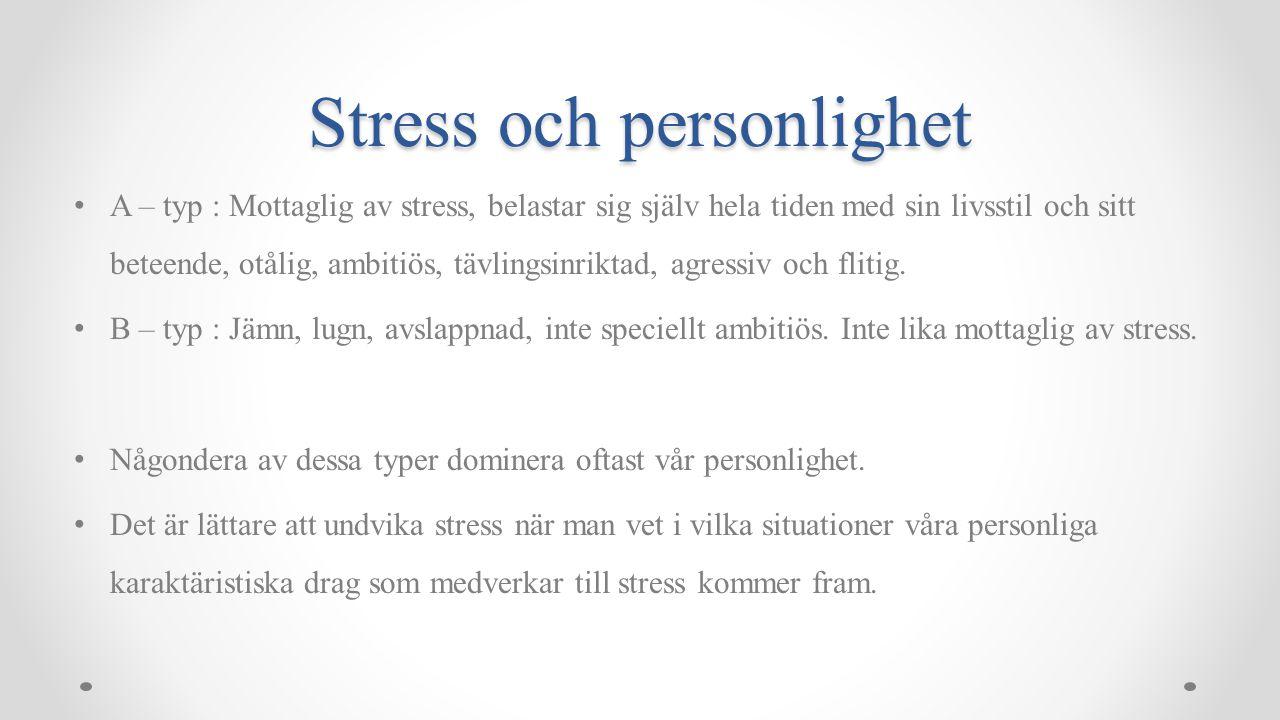 Stress och personlighet