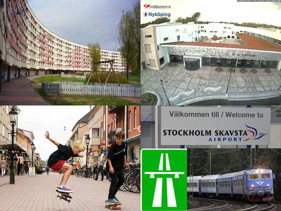 ANNA Kuststad 10 mil söder om Stockholm. Tjänstemannastad. Antal hushåll är ca 26 800. Antalet invånare är ca 51 815 varav.