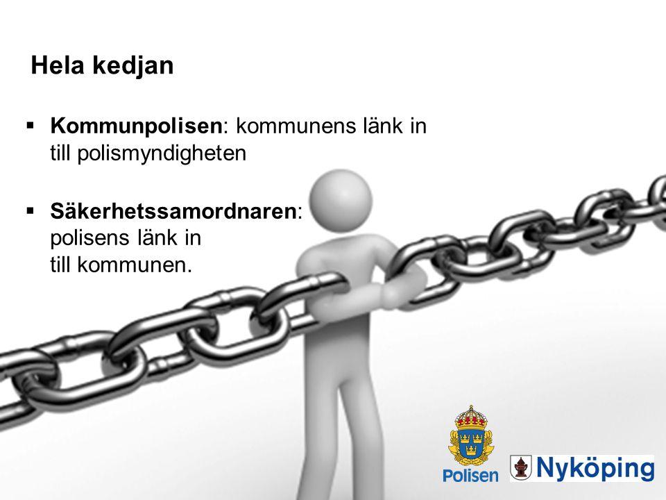 Hela kedjan Kommunpolisen: kommunens länk in till polismyndigheten