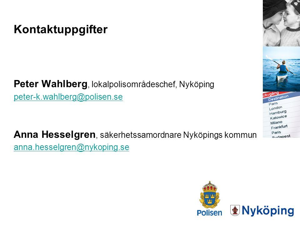 Kontaktuppgifter Peter Wahlberg, lokalpolisområdeschef, Nyköping