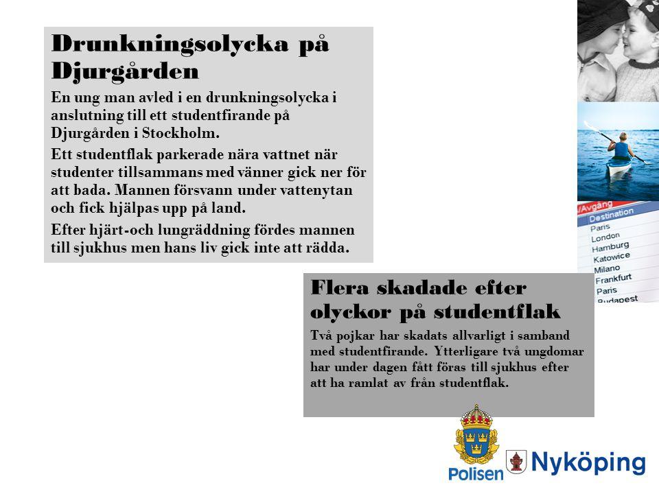 Drunkningsolycka på Djurgården
