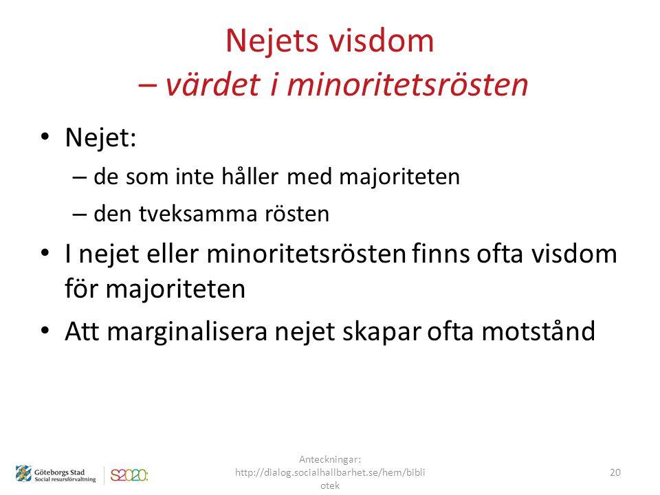 Nejets visdom – värdet i minoritetsrösten
