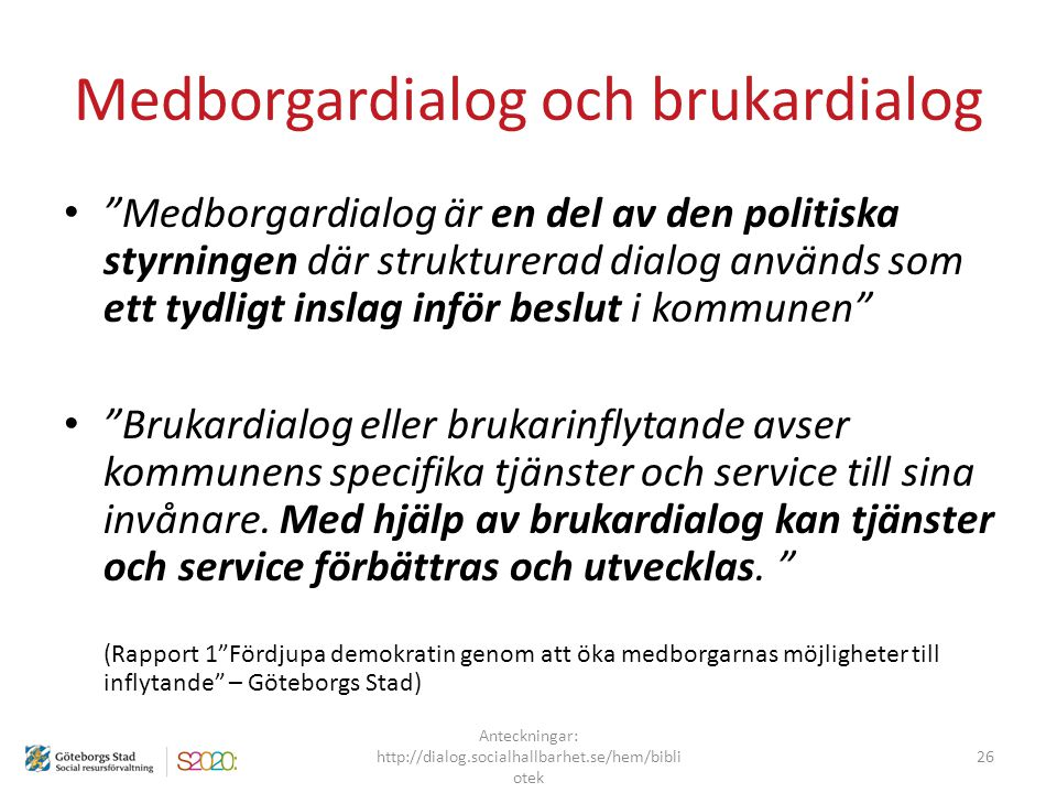 Medborgardialog och brukardialog