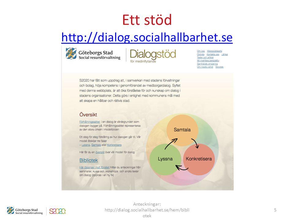 Ett stöd http://dialog.socialhallbarhet.se