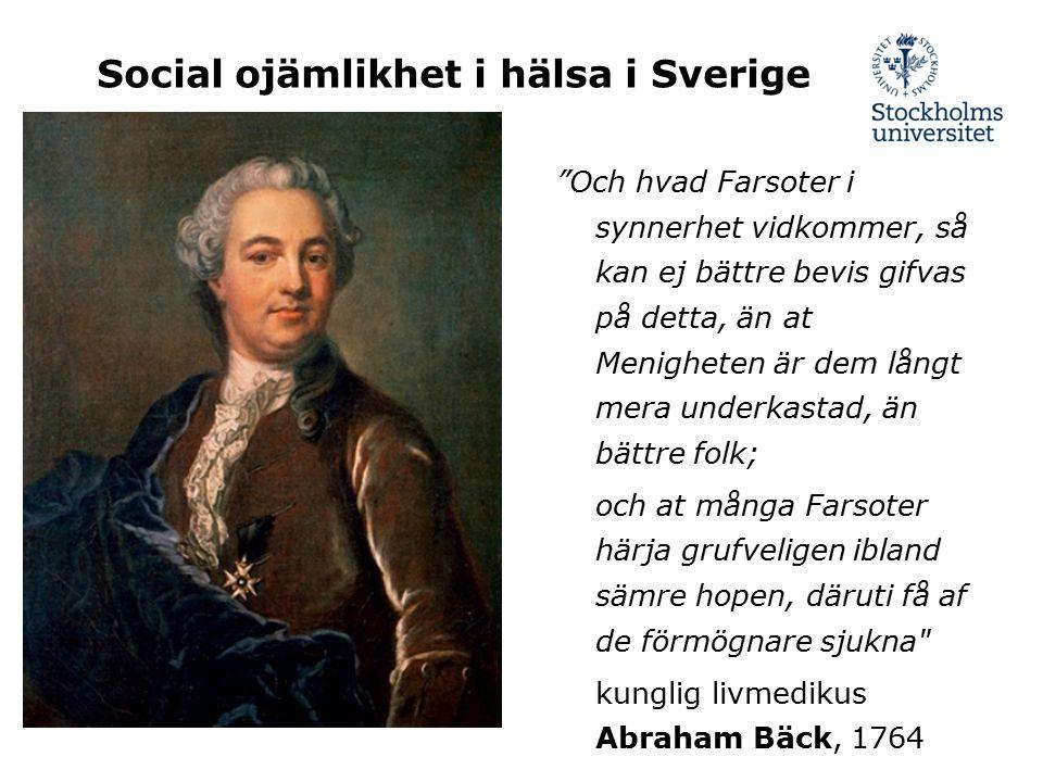 Social ojämlikhet i hälsa i Sverige