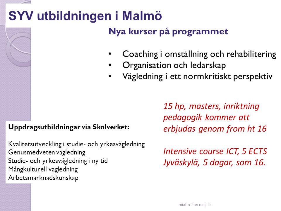 SYV utbildningen i Malmö