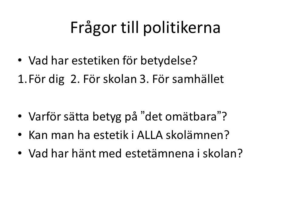 Frågor till politikerna