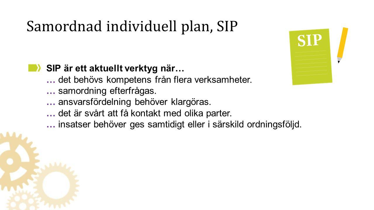 Samordnad individuell plan, SIP