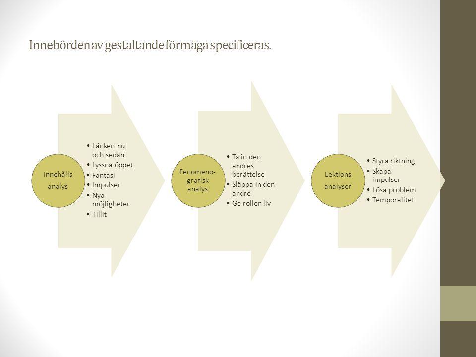 Innebörden av gestaltande förmåga specificeras.