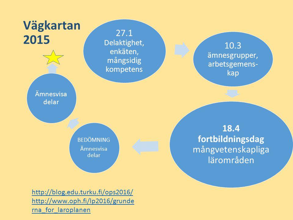 Vägkartan 2015 27.1 Delaktighet, enkäten, mångsidig kompetens