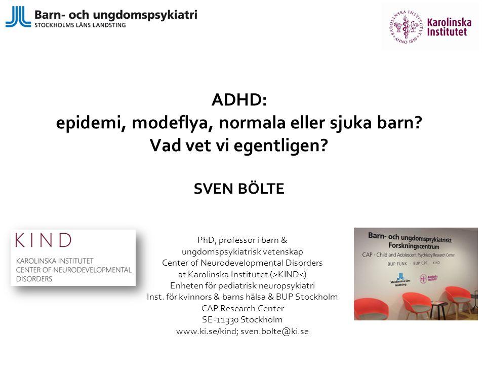 epidemi, modeflya, normala eller sjuka barn