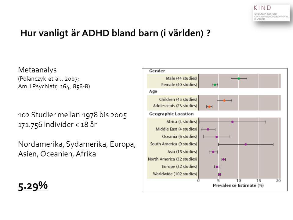 Hur vanligt är ADHD bland barn (i världen)