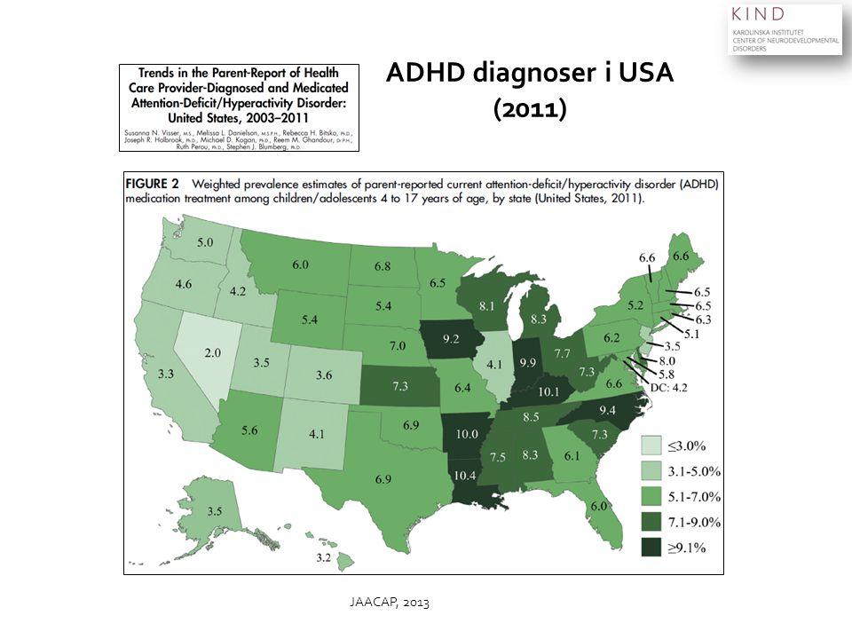 ADHD diagnoser i USA (2011) JAACAP, 2013