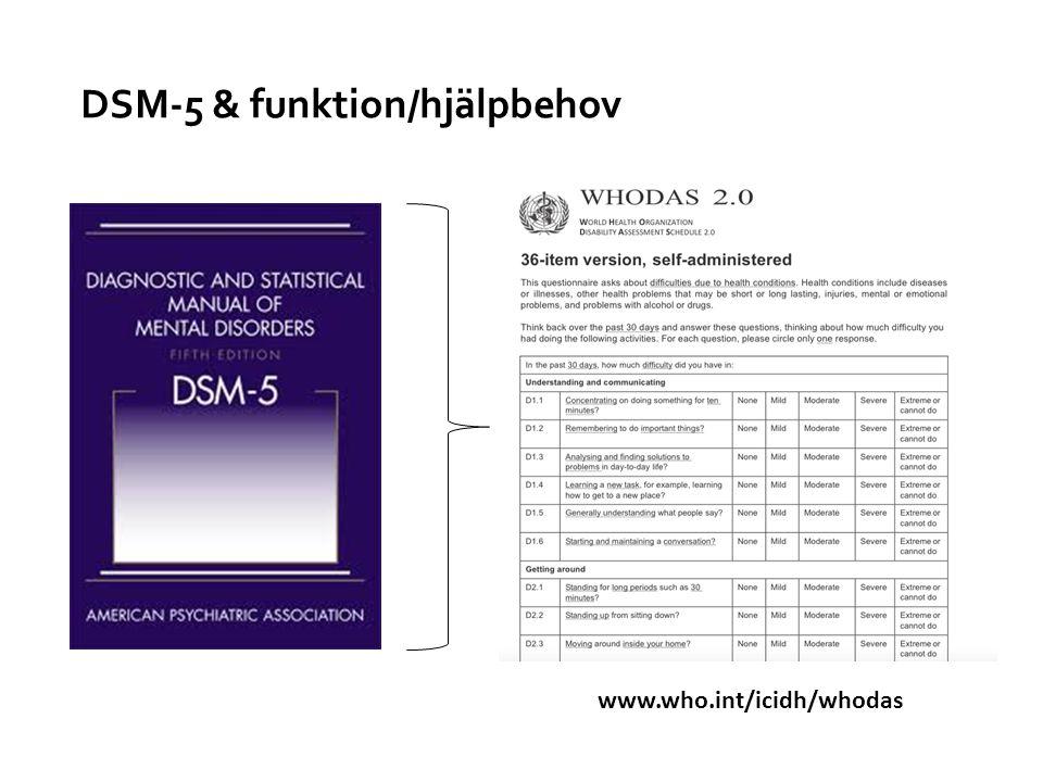 DSM-5 & funktion/hjälpbehov