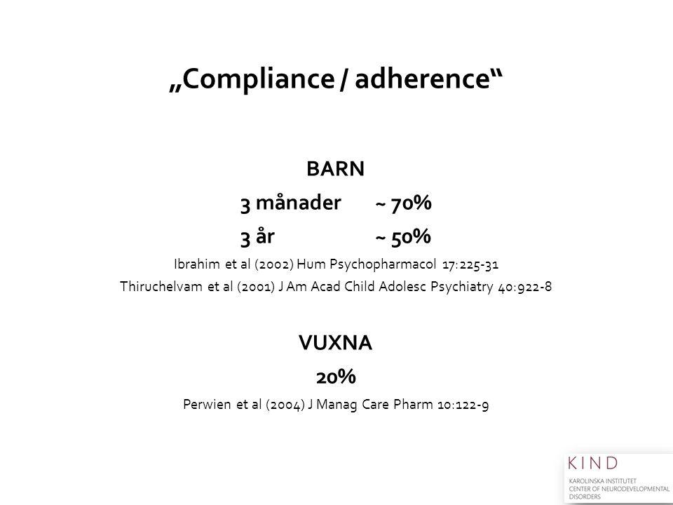 """Compliance / adherence"