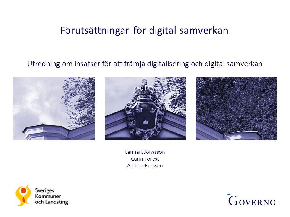 Förutsättningar för digital samverkan