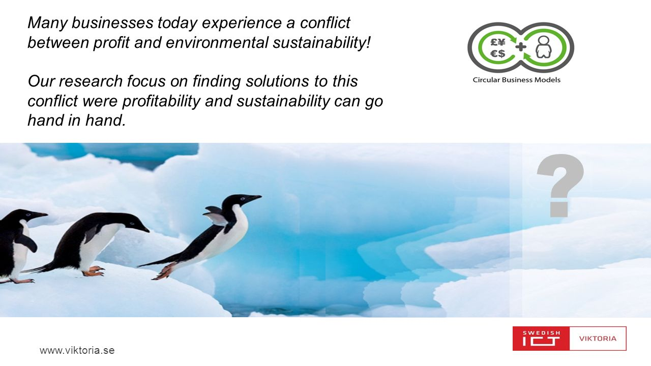 Many businesses today experience a conflict between profit and environmental sustainability!